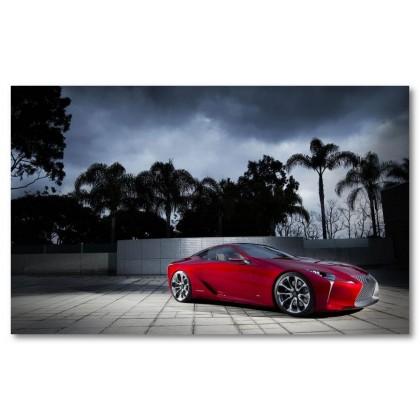 Αφίσα (Lexus, κόκκινος, μαύρο, λευκό, άσπρο)